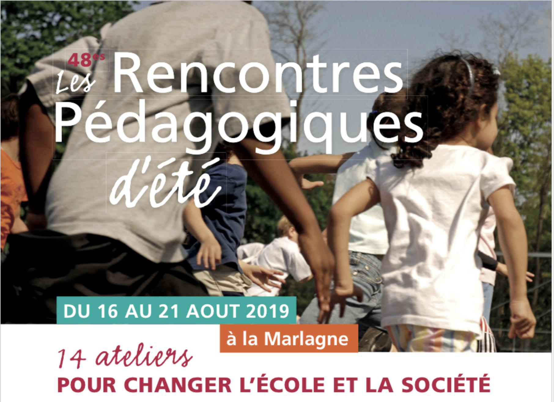 Actualité n°11 : Rencontres Pédagogiques d'Eté 16-21 août 2019